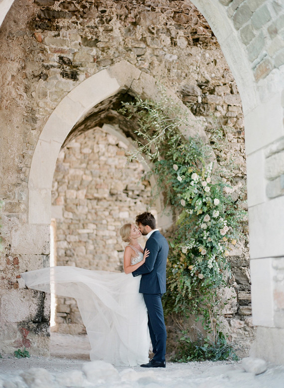 Ancient greek castle elopement at Methoni Castle