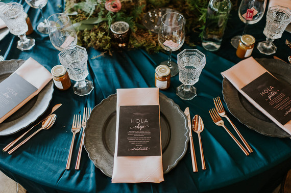 Moody foodie wedding in Edmonton