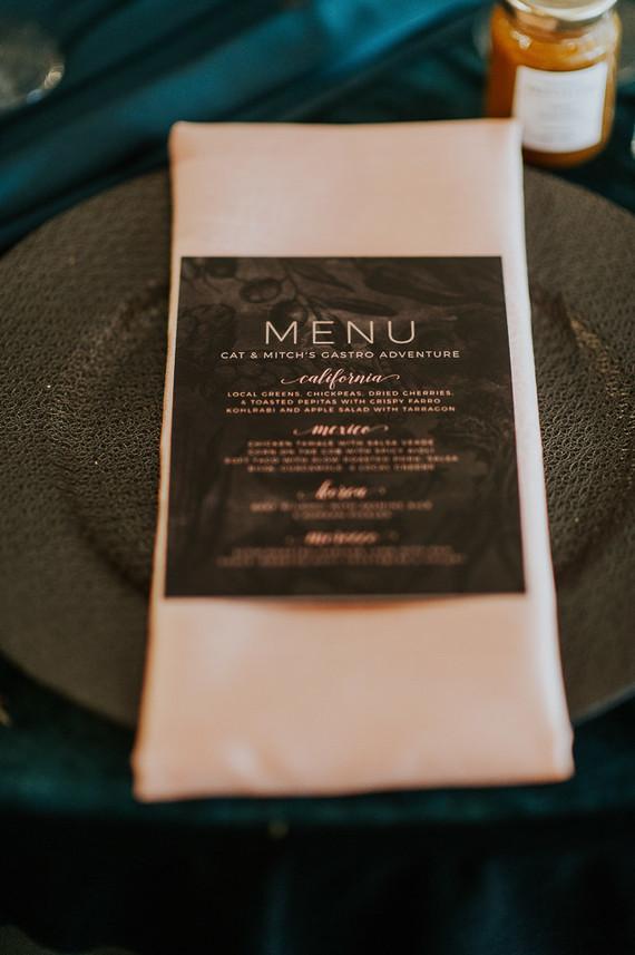 Moody foodie wedding in Edmonton