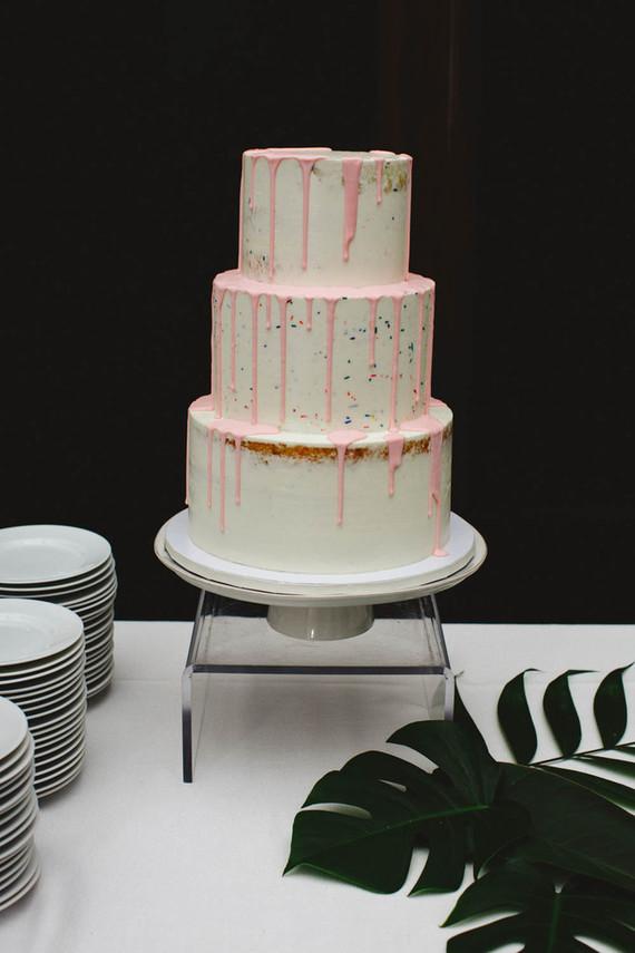 Simple modern drip cake