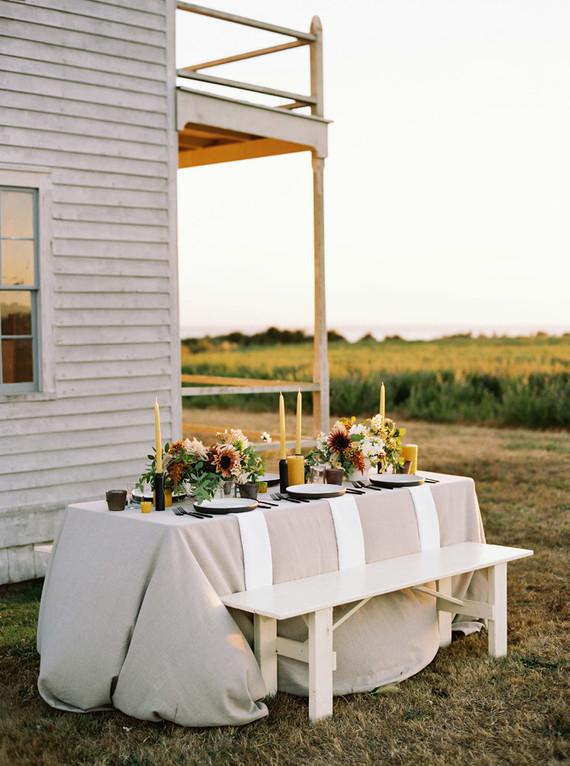 Golden hour late summer farmhouse wedding inspiration