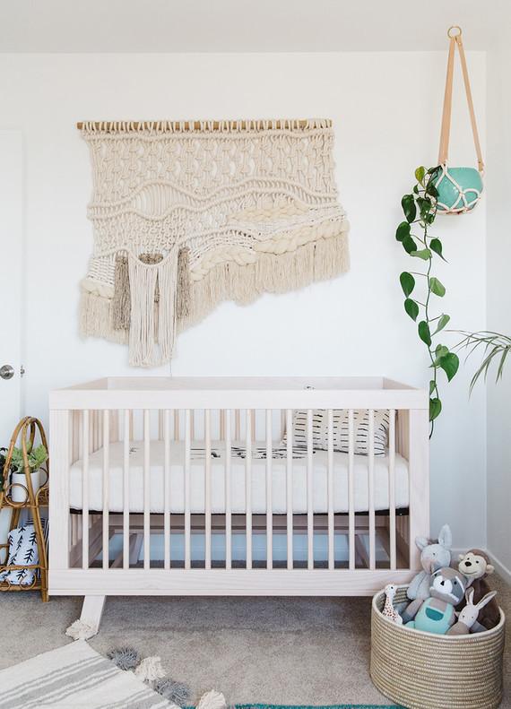 Modern boho boy's nursery
