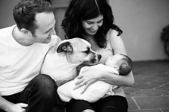 Casual Echo Park newborn photos by Amanda Gallant