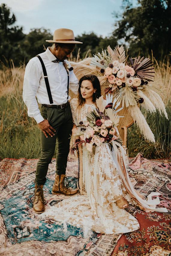 Southern bohemian elopement inspiration