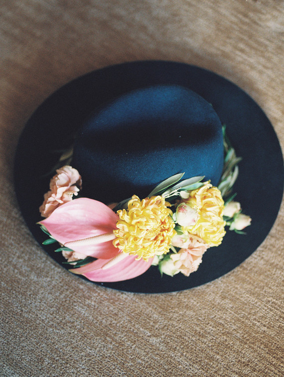 Flowers on Hat