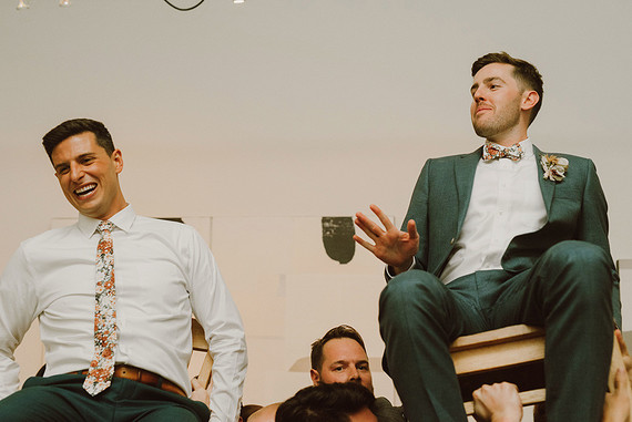 Modern same sex wedding at Foreign Cinema in San Francisco