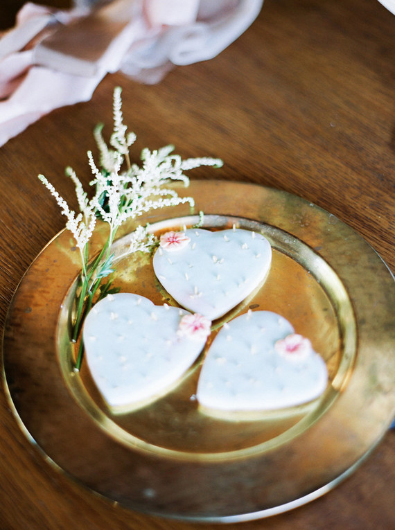 cactus heart cookies