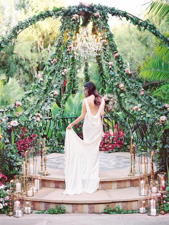Jewel Tone garden wedding editorial at Eden Gardens