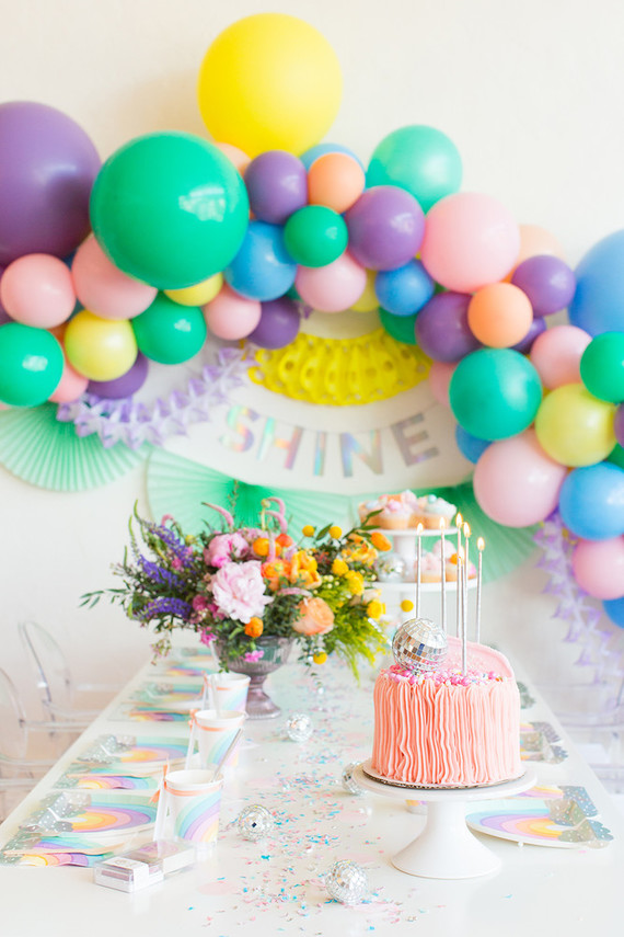 Rainbow Pastel Unicorn Birthday Pastel Unicorn Party