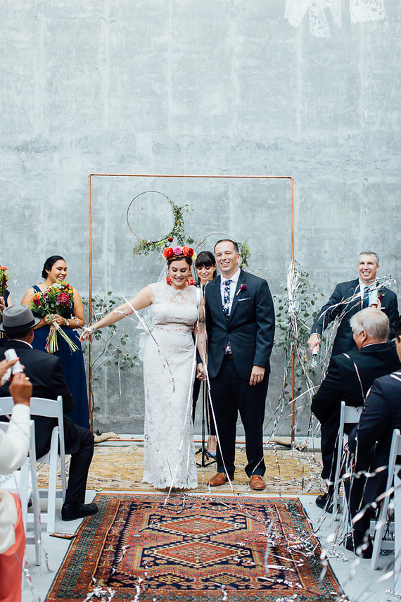 Mexican vintage-inspired wedding at Howl Long Beach | Real Weddings ...