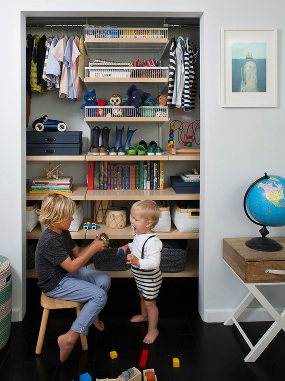 Boys shared closet