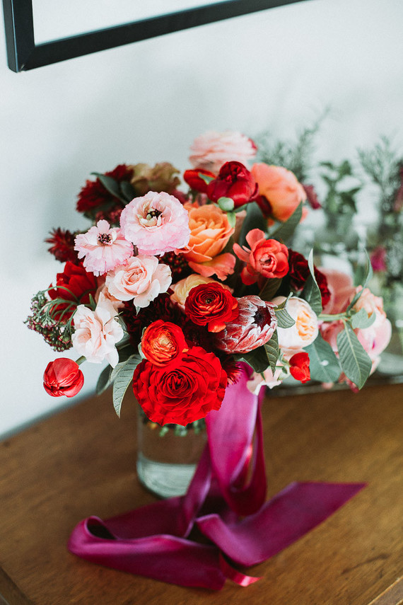 Super bright bridal bouquet
