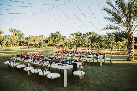Stylish tropical wedding at Flora Farms in Cabo