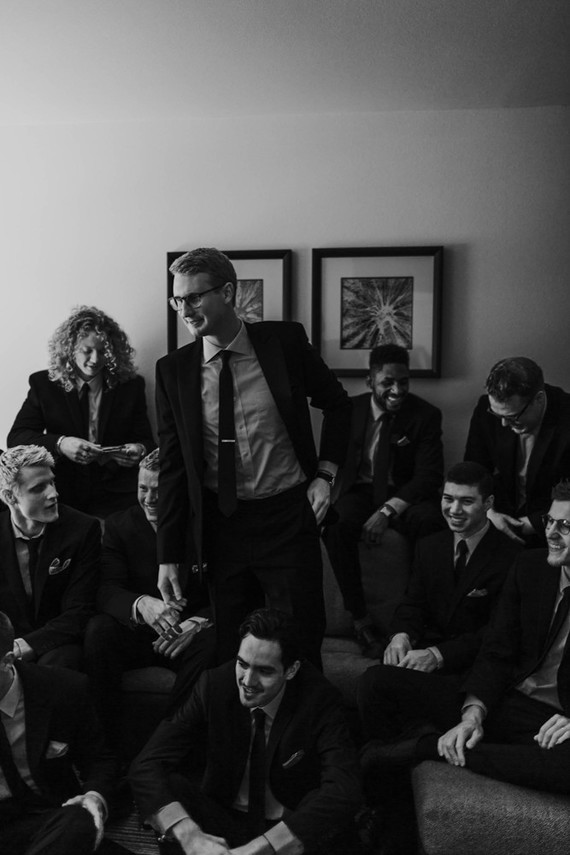 Moody groomsmen photo