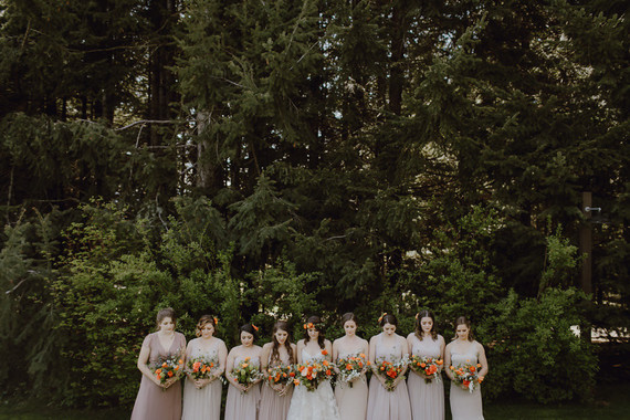 Spring Columbia Gorge wedding at Gorge Crest Vineyards