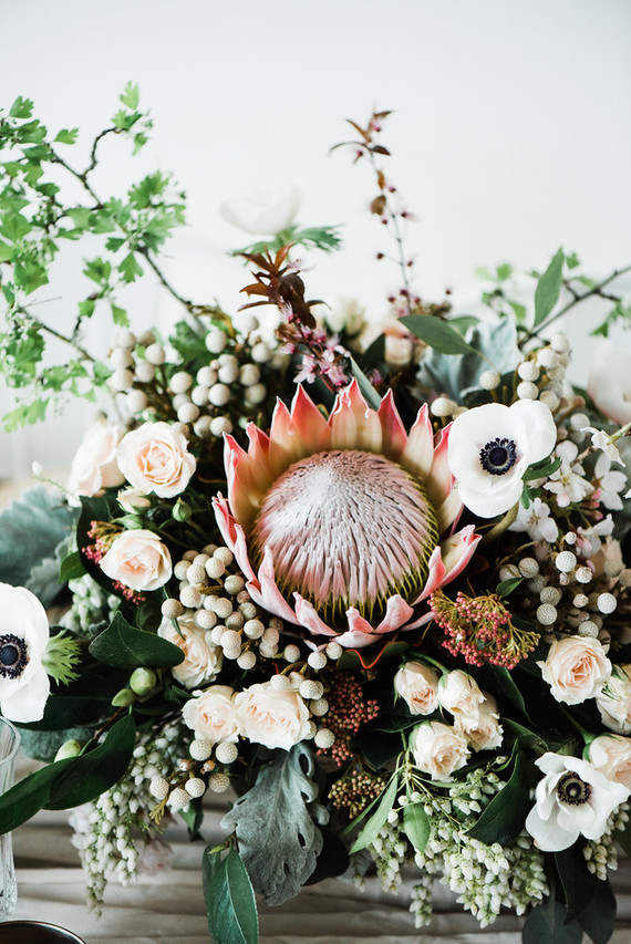 Protea wedding arrangement