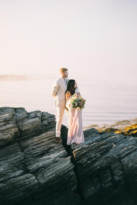 Maine engagement photos at Kettle Cove on Cape Elizabeth