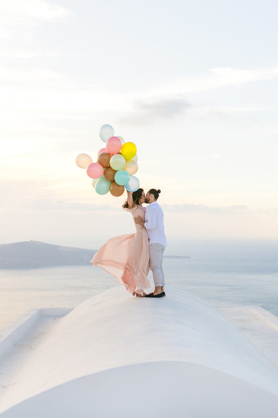 Santorini engagement shoot