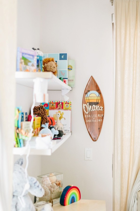 surf inspired nursery and newborn photos