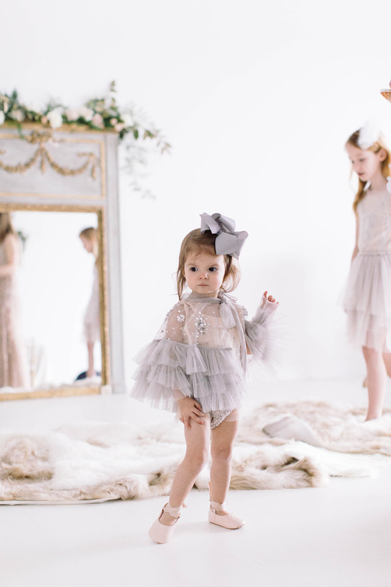 Floral Swan Lake ballet themed second birthday party