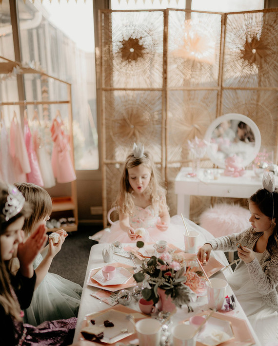 Boho princess tea party 4th birthday