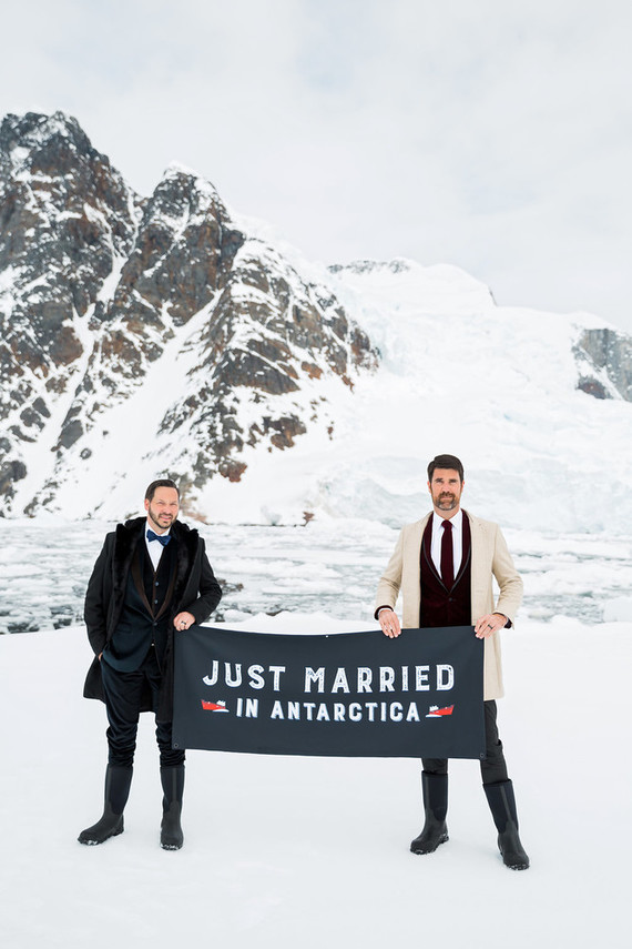 Intimate Antarctica wedding