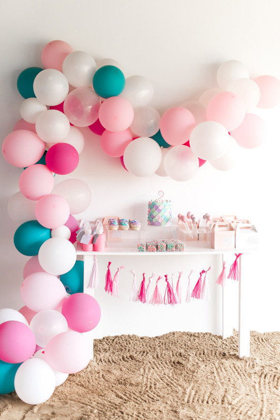 girls beach-themed birthday