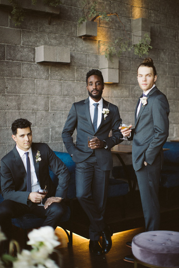 Glam cocktail party and groomsmen inspiration