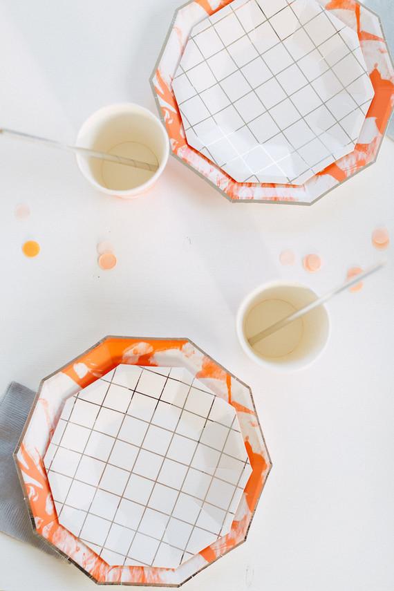 Orange and white modern 2nd birthday