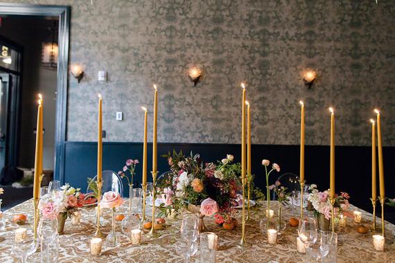 Romantic reception table