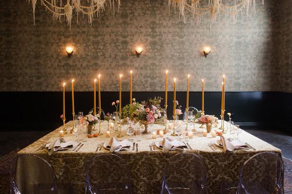 Moody wedding reception