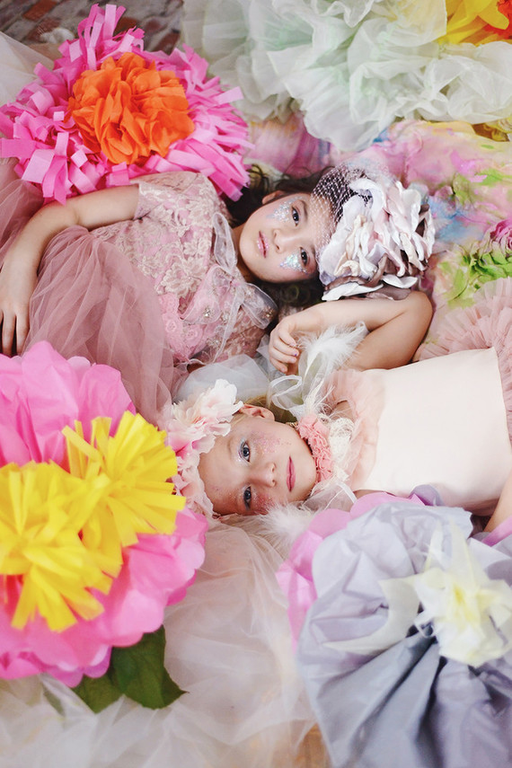 Paper flower dress up ideas