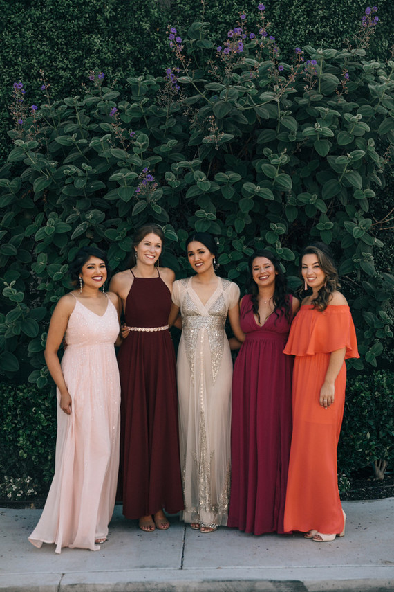 Bougainvillea inspired wedding at 5 Crowns restaurant in Corona Del Mar
