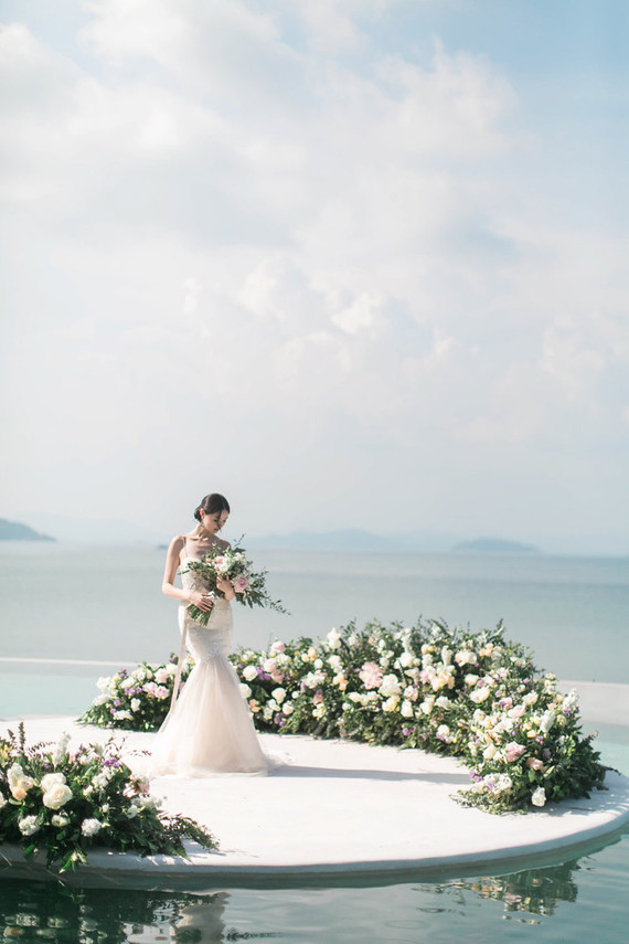 Elegant floral wedding ideas in Phuket, Thailand