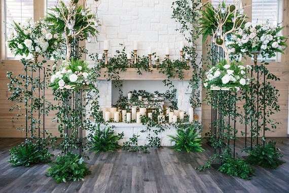 Romantic wedding backdrop