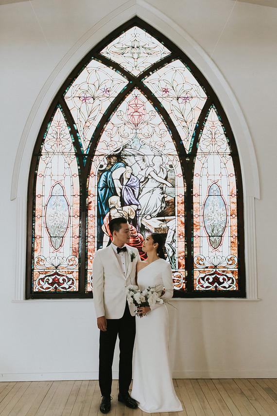 Moody minimalist spring wedding at The Ruby Street in Los Angeles