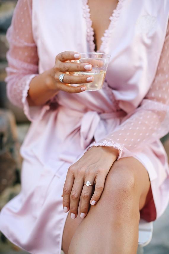 Pink bridal robe