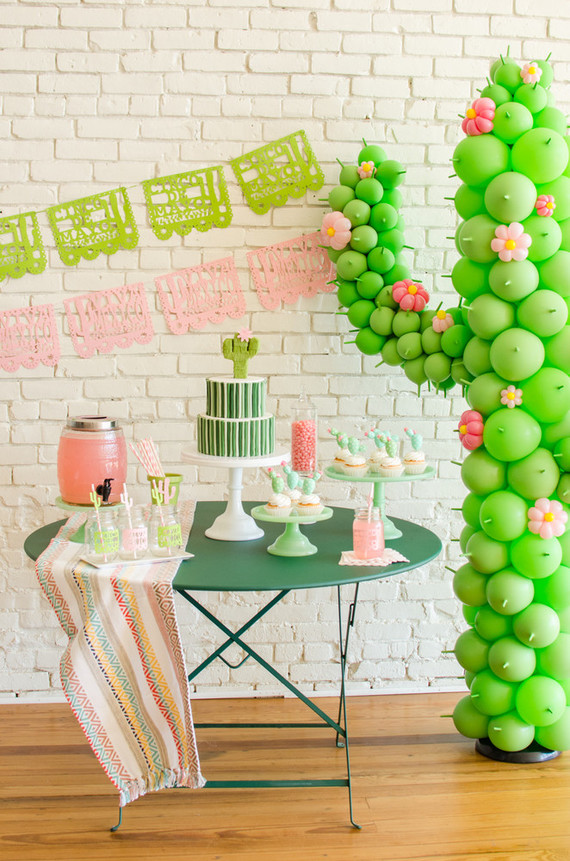 cactus themed cinco de mayo party cactus themed kids party 100 layer cake. Black Bedroom Furniture Sets. Home Design Ideas