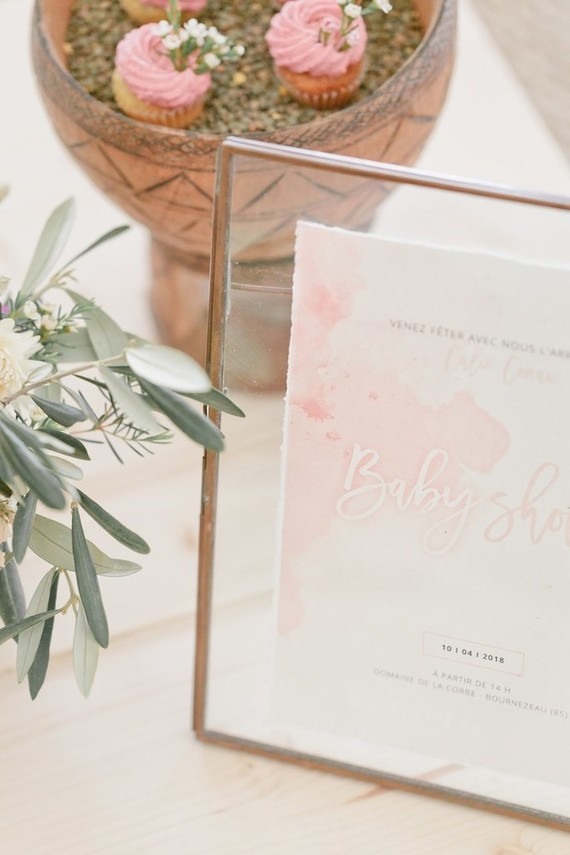 Cactus rose desert inspired Moroccan baby shower in France
