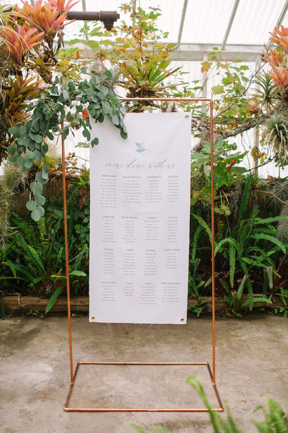 Whimsical greenhouse wedding at Shelldance Orchid Gardens