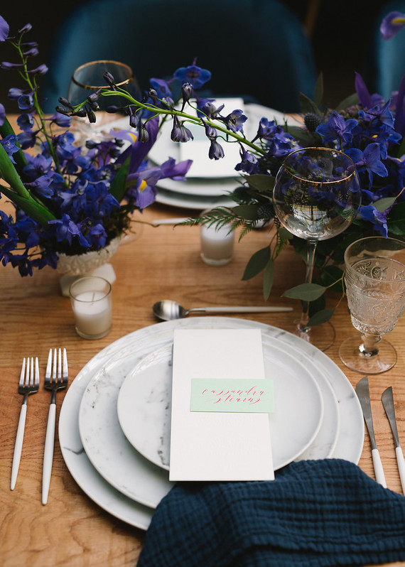 Ombre dinner party with Collective Gatherings in Brooklyn