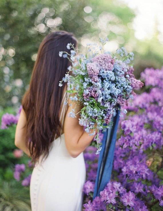 Purple lilac bridal bouquet