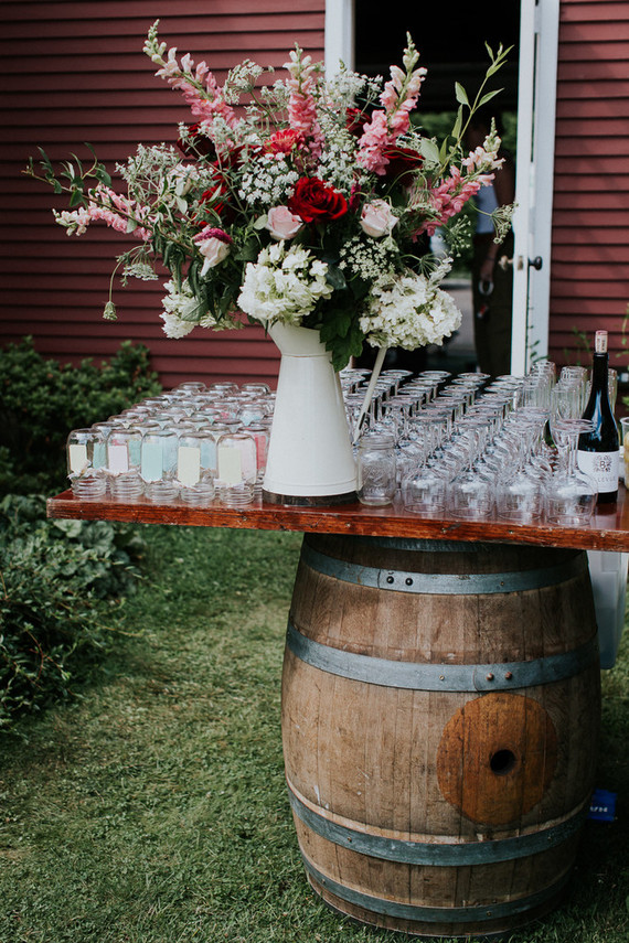 Colorful floral backyard summer wedding in Connecticut