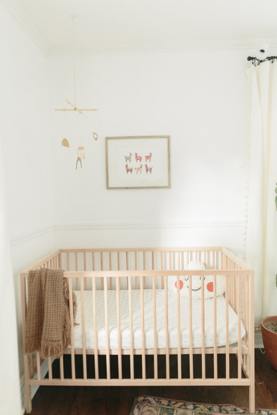 Earthy pastel girl's nursery
