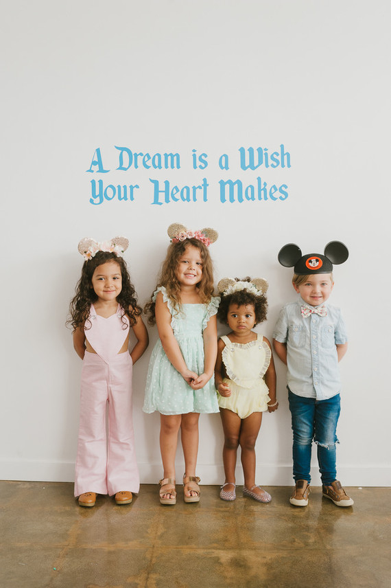 Modern Disneyland themed birthday party