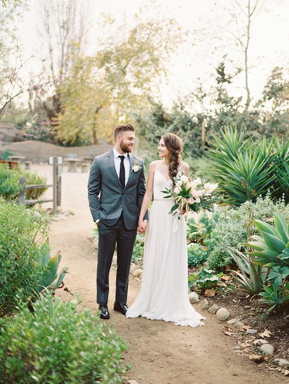 Geometric brass + blush wedding inspiration at Franciscan Gardens