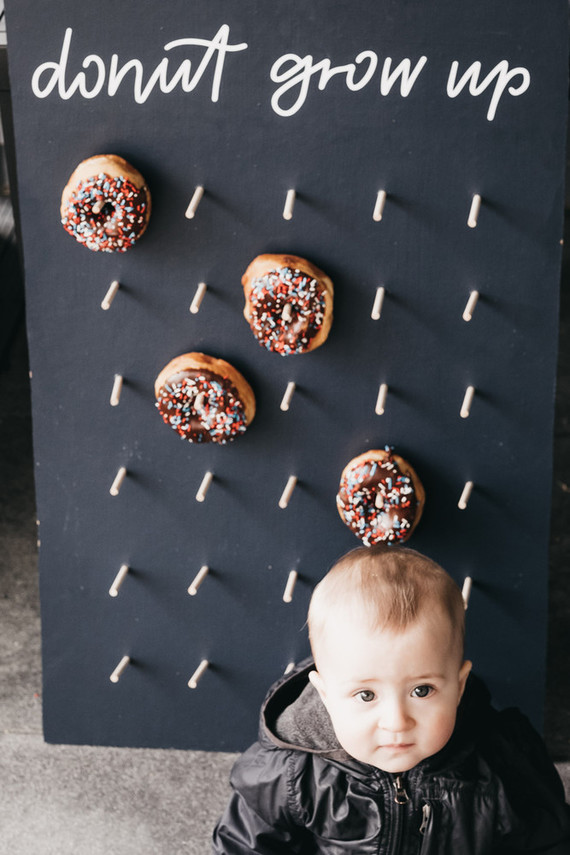 Donut party 1st birthday