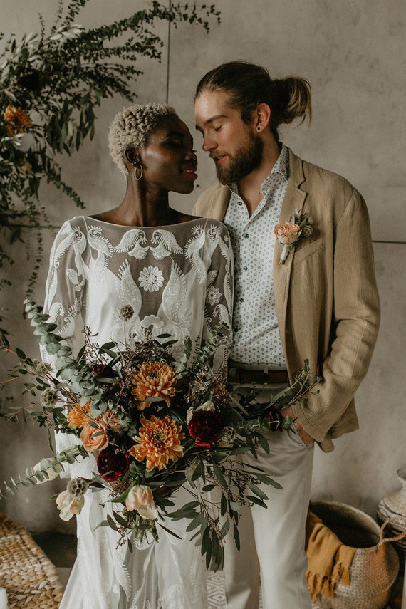 African goddess chic bridal style