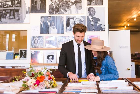 Stylish Detroit engagement photos