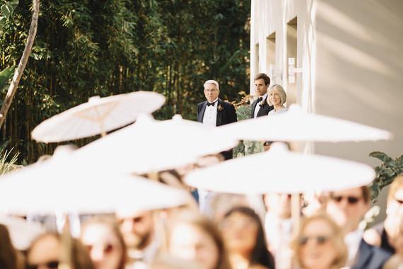 Intimate, elegant backyard wedding in Santa Barbara